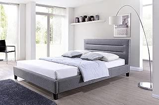 Best upholstered platform bed gray Reviews
