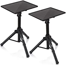 Universal Laptop Projector Tripod Stand - 2 Pcs Computer, Book, DJ Equipment Holder Mount Height Adjustable Up to 52 Inche...