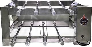 Churrasqueira Elétrica Giratória Inox 8 Espetos