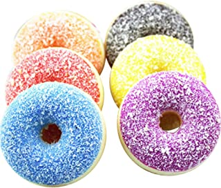 JSPOYOU Squishy Squeeze Stress Reliever Soft Colourful Doughnut Scented Slow Rising Toys
