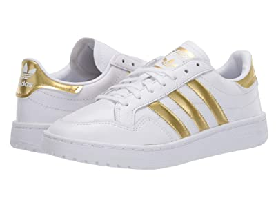 adidas Originals Team Court (Footwear White/Gold Metallic/Footwear White) Women