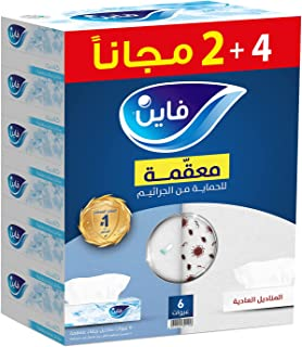 Fine Sterilized Facial Tissues Classic 86 X 2 Ply White Tissues, 6 Pieces - Pack of 1