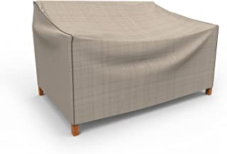 Budge P3A01PM1 English Garden Patio Sofa Cover Heavy Duty and Waterproof, Small, Two-Tone Tan