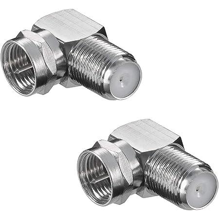 2 Stück F-Winkeladapter F-Stecker F-Buchse 90°
