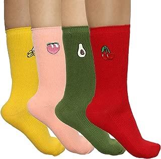 Best embroidered fruit socks Reviews
