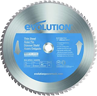 Evolution Power Tools–acero evoblade355ts evolución 355mm de grosor acero carburo, hoja, 0V, Plata, 355mm