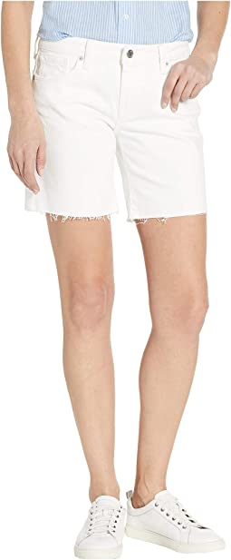 Roll Up Shorts in Clean White