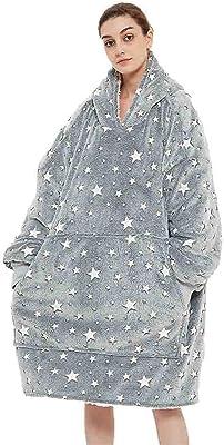 Pocket Unisex Weallableの毛布巨大なパーカーが付いているパーカースウェットシャツの毛布の特大