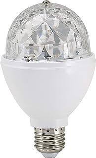 Briloner Leuchten 0528-003 - Luz LED para fiestas, efecto discoteca, autogiratoria, cambio de color, bombilla LED de 3 W, para todas las bombillas con casquillo E27, plástico, 8 x 8 x 13 cm
