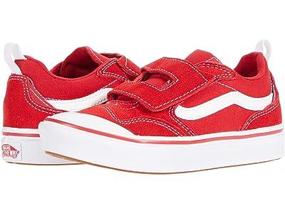 Vans Kids ComfyCush New Skool V (Little Kid) (Racing Red/True White) Kid