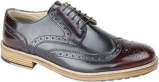 comprar comparacion Roamers - Zapatos Gibson Cubiertos con Acentos y Suela de Resina con Cinco Ojales para Hombre (46 EU/Oxblood)