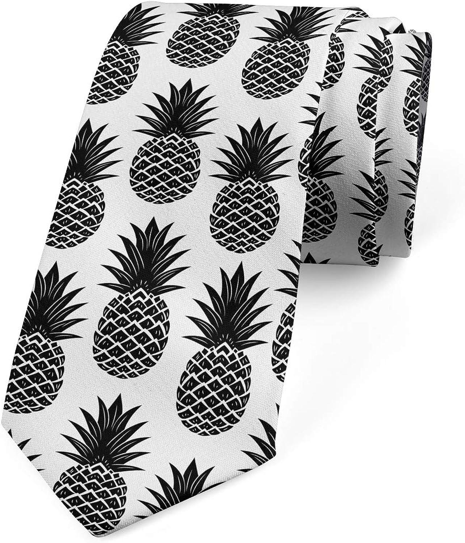 Ambesonne Necktie, Simple Vegan Illustration, 3.7