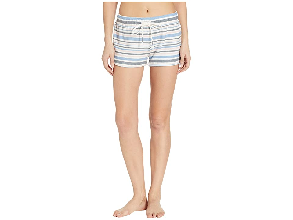 P.J. Salvage Peachy Party Striped Shorts (Ivory) Women