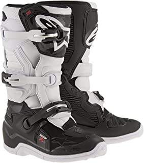 Alpinestars Unisex-Child Tech 7S Youth Boots (Black/White, Size 5) - 2015017-12-5