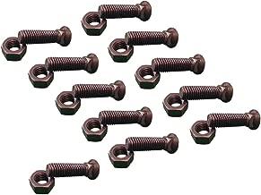 11 - Plow Bolt & Nut for Blades/Cutting Edge, 5/8-11x 2 - Grade 8, Dome Head