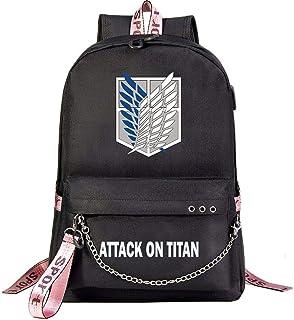 Attack On Titan Mochila USB Mochilas Escolares Mochilas De Viaje Laptop Cadena Auriculares 4