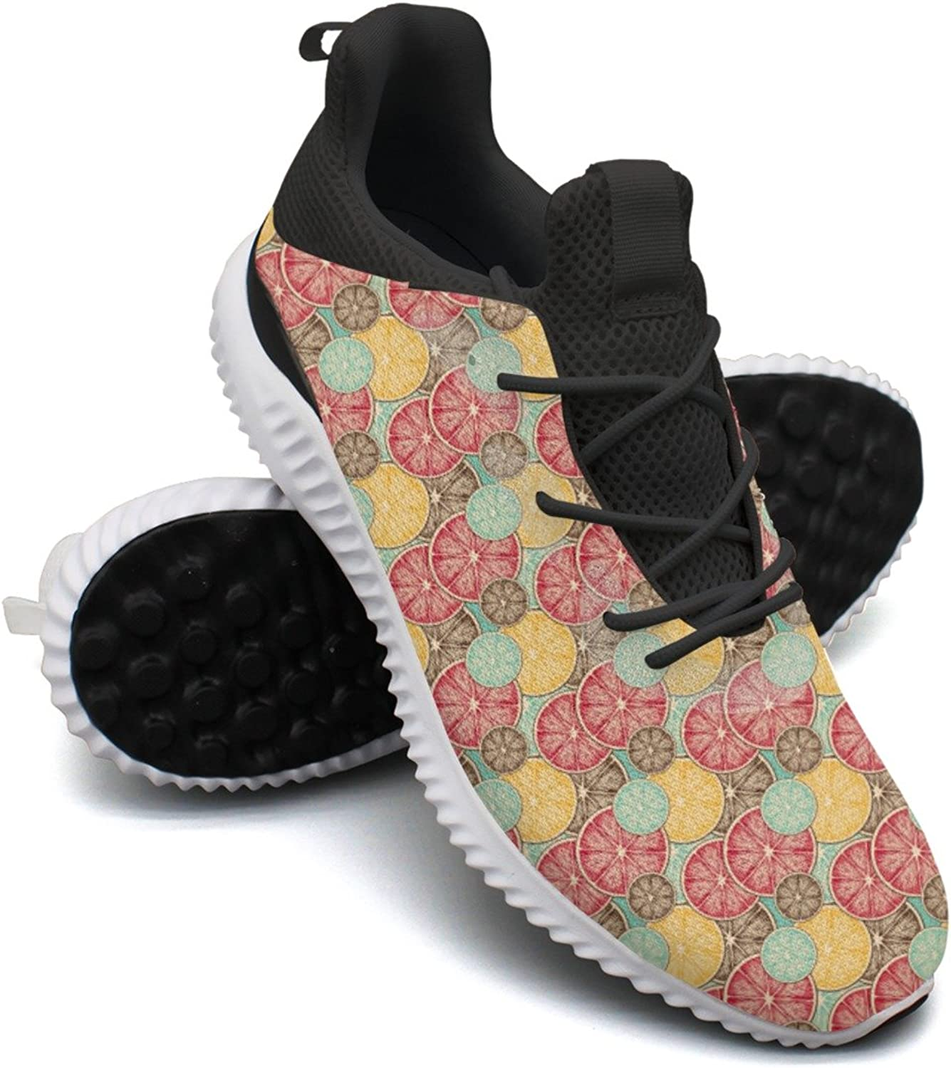 Lemon Slice Leisure Casual Running shoes Women Net Novelty colorful