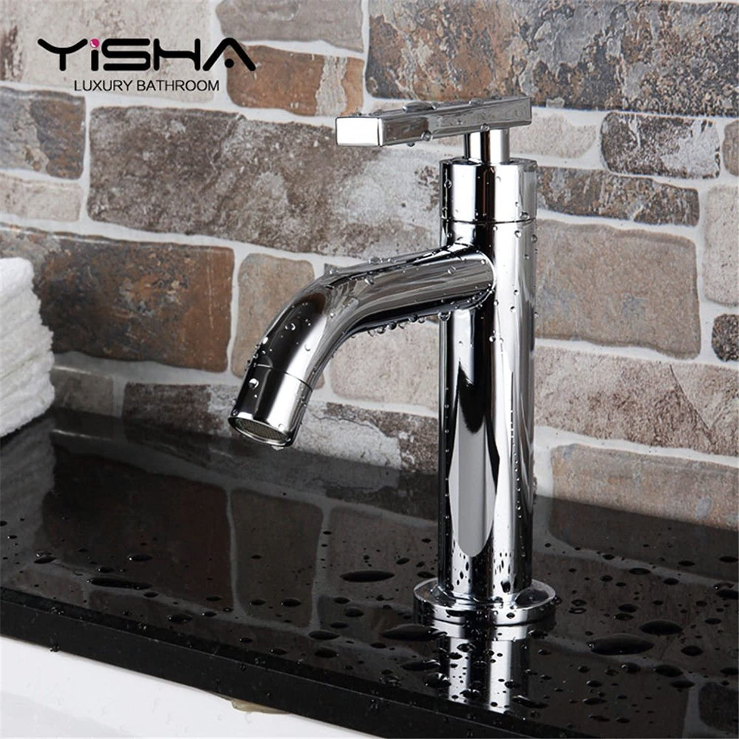 ETERNAL QUALITY Bathroom Sink Basin Tap Brass Mixer Tap Washroom Mixer Faucet The bathrooms are a cold wash basins taps full copper washing basin SINGLE LEVER SINGLE HOLE