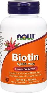 Now Foods, Biotin, 5,000 mcg, 120 Veg Capsules