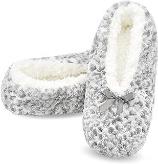 Womens Cozy&Warm Slipper Socks with Grippers -Fuzzy...