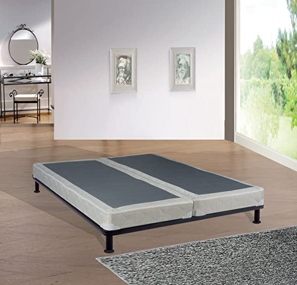 Continental Mattress 440C 5 0 3LPS4 Inch Fully Assembled Split Box Spring Foundation For Mattress Queen Size