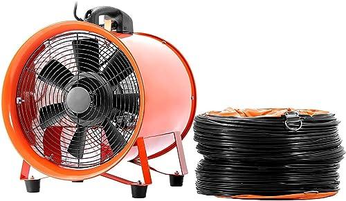 lowest OrangeA Blower Fan 10 Inch 0.45HP Utility 1520 CFM 3300 RPM Portable Ventilator High Velocity Multifunctional online sale Ventilator Fume 2021 Extractor with 5M Duct Hose sale