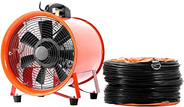 OrangeA Blower Fan 10 Inch 0.45HP Utility 1520 CFM 3300 RPM Portable Ventilator High Velocity Multifunctional Ventilator Fume Extractor with 5M Duct Hose