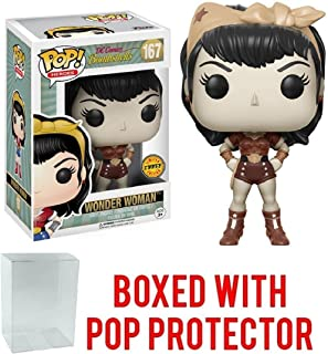 Funko Pop! Heroes: DC Bombshells - Wonder Woman Limited Edition CHASE VARIANT Vinyl Figure (Bundled with Pop Box Protector Case)