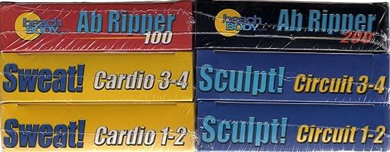 Power 90 Beach Body SWEAT 1-2, 3-4 / SCULPT 1-2, 3-4 / AB-RIPPER 100-200 (Six VHS Tapes)