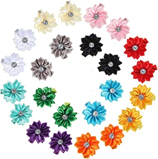 inSowni Alligator Hair Clips Grosgrain Bow Satin Chiffon Flower for Baby Girl Toddlers