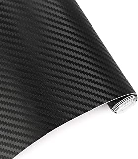 Otoez 3D Car Carbon Fiber Vinyl Wrap Roll DIY Film Sticker Sheet Decals Bubble Free Air Release 12