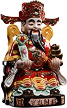Home Accessories Artwork Sculptures God of Wealth Buddha Statue Household Ceramics Wen Wealth Statue Lucky Decoration Chin...