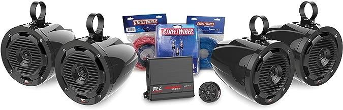 MTX MOTORSPORTS BORVKIT2 Bluetooth Tower 4-Speaker & Amplifier Off-Road Motorsports Package