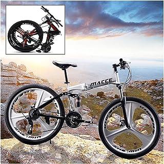 Bicicleta de montaña plegable MTB Bicicleta 26 pulgadas 21 Velocidad Marco de acero Doble freno de disco Bicicleta de carr...