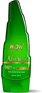 WOW Skin Science 99% Pure Aloe Vera Gel - Ultimate for Skin and Hair - No Parabens, Silicones, Mineral Oil, Color, Synthet...