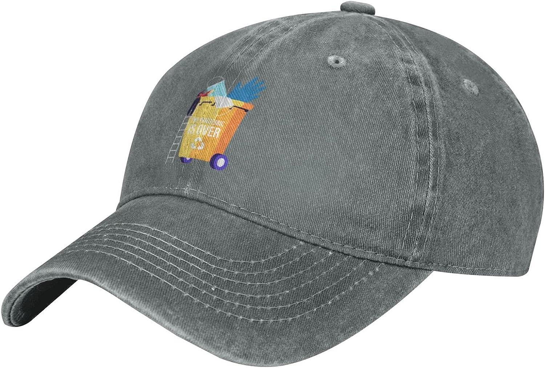 Female Character Stand On Ladder Quarantine Unisex Adult Fashion Outdoor Cowboy Caps Adjustable Baseball Caps