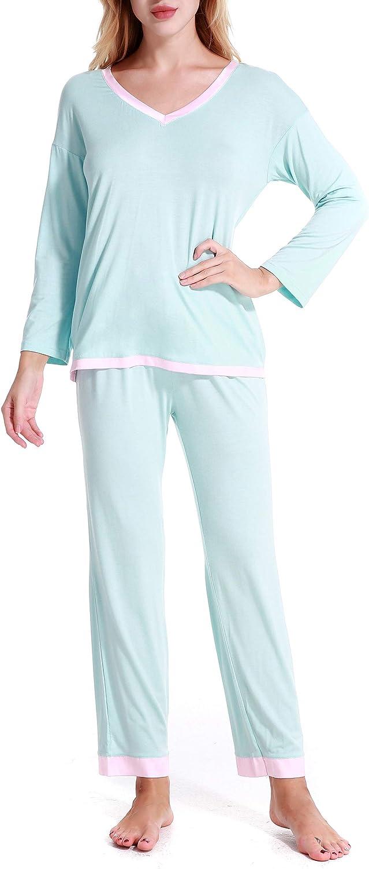 Aoymay Womens Tie Dye Mail order Printed Lounge PJS Long Set Sales Ladies Pajamas