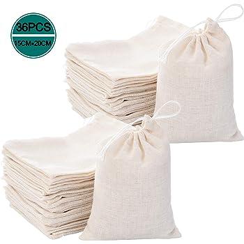 Bolsas de muselina de algodón Fnova, bolsa de almacenamiento de ...