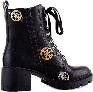 Guess Luxury Fashion Womens FL7MRMELE10BLACK Black Ankle Boots | Fall Winter 19