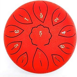 Handpan Tongue Drum, Wsaman Percussion Instrument Lotus Drum, Standard C Key 11 Notes 6 inches Drum Tank Drum Steel Tongue...