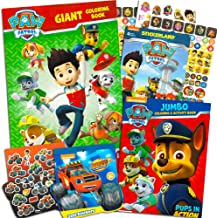 Paw Patrol Coloring and Activity Super Set -- 2 Jumbo Paw Patrol Coloring Books with Bonus Paw Patrol and Blaze Stickers (Paw Patrol Party Pack)
