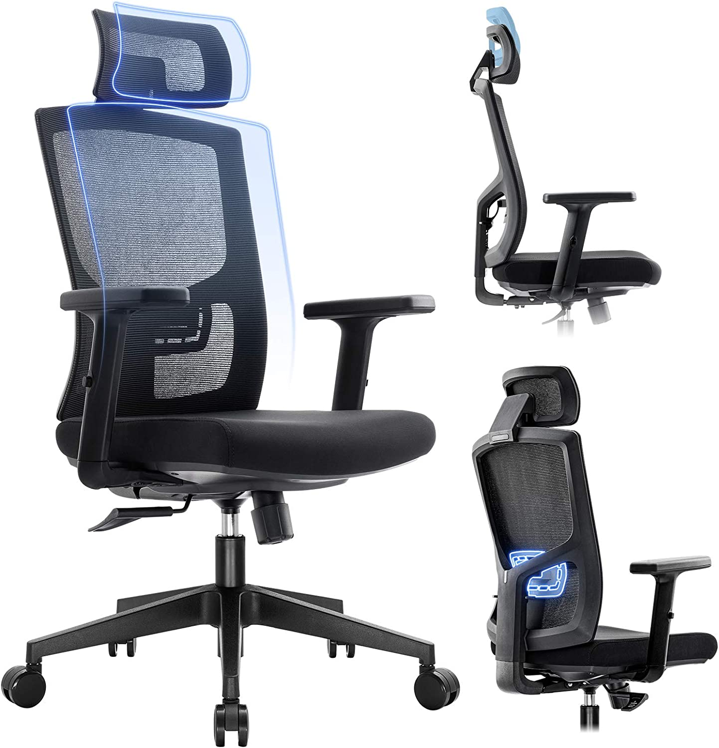 Komene Ergonomic Mesh Office Chair - High Japan Maker New Back with Desk A Limited time trial price