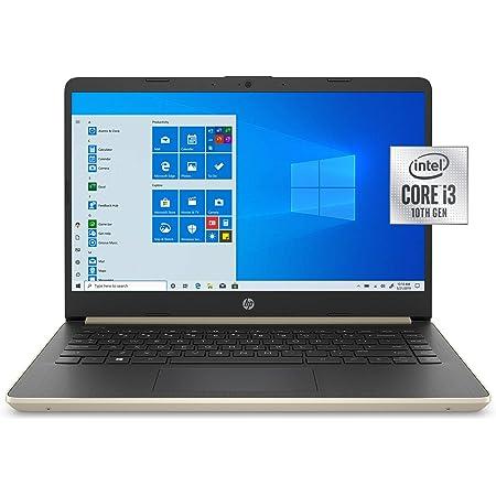 """HP 14"""" HD (1366x768) Laptop, Intel 10th Gen Core i3-1005G1 Processor, 8GB DDR4-2666 SDRAM, 128GB SSD Hard Drive, 802.11ac, Bluetooth 4.2, HDMI, USB 3.1, Windows 10 Home (Gold)"""