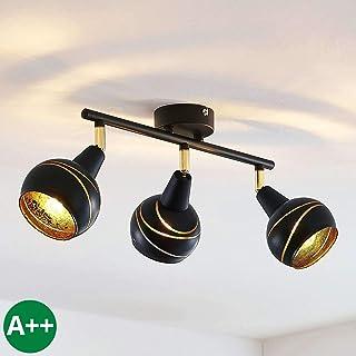 en Noir en M/étal e Lampe encastrable applique plafonnier /à 3 lampes, GU10, A++ Spot Henega /à intensit/é variable pour Salon /& Salle /à manger a Modern, Industriel de Lampenwelt