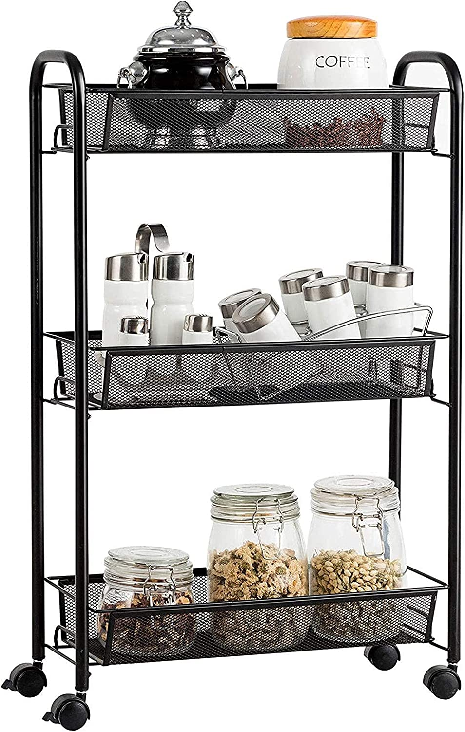 YLCS Kitchen Storage Recommended Trolley Nashville-Davidson Mall 3-Tier Rolling Rack