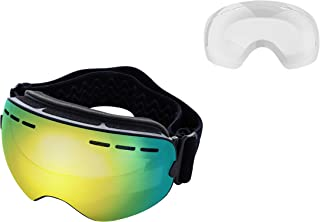 Mira - Ski Goggles With Two Changeable Lenses for all Weather Conditions - Ultra Wide Panoramic Lenses - Anti-Fog, Anti-Wi...