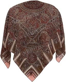 Pavlovo Posad Shawl Pashmina Scarf Wrap 100% Wool 35x35'' 4 vibrant colors