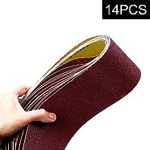 4x36-Inch Sanding Belt, MAXTUF Aluminum Oxide Sanding Belt Premium Sandpaper For Portable Belt Sander Polishing Wood, Knife and Grinding Fiberglass, 2 Each of 600 400 240 150 120 80 60 Grits, 14-Pack