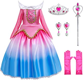 Princess Costume Girls Birthday Party Dress Up with Accessories Age 3-12 Years
