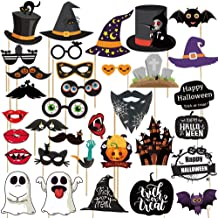 Haojiake Halloween Photo Booth Props 35 Pcs for Halloween Decor,Halloween Party Trick or Treat Decor